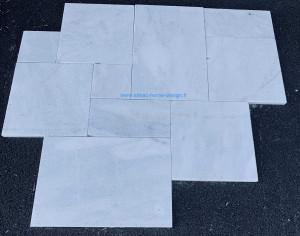 Marbre blanc sable opus 4 formats 3cm extérieur